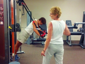 Personal trainer in Holly Hill gym