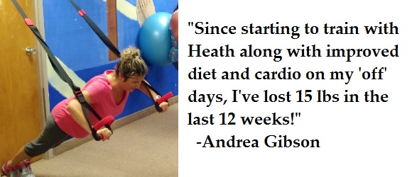 Personal fitness training testimonial