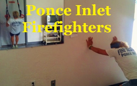 Group training with Ponce Inlet firefighters