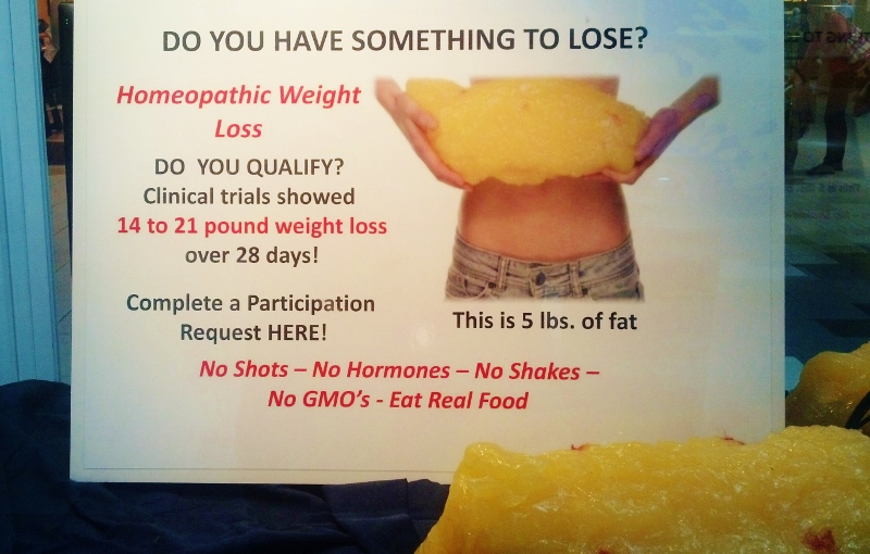 weight loss display